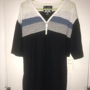 Men's fashion shirt, color block and snap closures